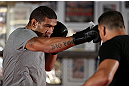 MINNEAPOLIS, MN - OCTOBER 02:  Antonio &quot;Bigfoot&quot; Silva works out for media and fans during an open training session at Cellar Kickboxing and Martial Arts on October 2, 2012 in Minneapolis, Minnesota.  (Photo by Josh Hedges/Zuffa LLC/Zuffa LLC via Getty Images)