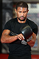 MINNEAPOLIS, MN - OCTOBER 02:  Marcus LeVesseur works out for media and fans during an open training session at Cellar Kickboxing and Martial Arts on October 2, 2012 in Minneapolis, Minnesota.  (Photo by Josh Hedges/Zuffa LLC/Zuffa LLC via Getty Images)