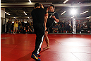 MINNEAPOLIS, MN - OCTOBER 02:  Jake Ellenberger works out for media and fans during an open training session at Cellar Kickboxing and Martial Arts on October 2, 2012 in Minneapolis, Minnesota.  (Photo by Josh Hedges/Zuffa LLC/Zuffa LLC via Getty Images)
