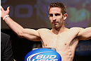 MINNEAPOLIS, MN - OCTOBER 04:  Phil Harris weighs in during the UFC on FX weigh in at Pantages Theater on October 4, 2012 in Minneapolis, Minnesota.  (Photo by Josh Hedges/Zuffa LLC/Zuffa LLC via Getty Images)