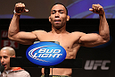 MINNEAPOLIS, MN - OCTOBER 04:  John Dodson weighs in during the UFC on FX weigh in at Pantages Theater on October 4, 2012 in Minneapolis, Minnesota.  (Photo by Josh Hedges/Zuffa LLC/Zuffa LLC via Getty Images)