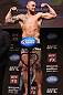 MINNEAPOLIS, MN - OCTOBER 04:  Travis Browne weighs in during the UFC on FX weigh in at Pantages Theater on October 4, 2012 in Minneapolis, Minnesota.  (Photo by Josh Hedges/Zuffa LLC/Zuffa LLC via Getty Images)
