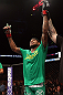 MINNEAPOLIS, MN - OCTOBER 05:  Michael Johnson reacts after knocking out Danny Castillo during their lightweight fight at the UFC on FX event at Target Center on October 5, 2012 in Minneapolis, Minnesota.  (Photo by Josh Hedges/Zuffa LLC/Zuffa LLC via Getty Images)