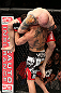 MINNEAPOLIS, MN - OCTOBER 05:  (R-L) Justin Edwards secures a guillotine choke submission to defeat Josh Neer during their welterweight fight at the UFC on FX event at Target Center on October 5, 2012 in Minneapolis, Minnesota.  (Photo by Josh Hedges/Zuffa LLC/Zuffa LLC via Getty Images)