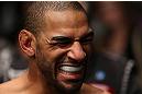 MINNEAPOLIS, MN - OCTOBER 05:  Jay Hieron prepares to enter the Octagon before his welterweight fight against Jake Ellenberger at the UFC on FX event at Target Center on October 5, 2012 in Minneapolis, Minnesota.  (Photo by Josh Hedges/Zuffa LLC/Zuffa LLC via Getty Images)