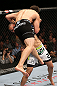 MINNEAPOLIS, MN - OCTOBER 05:  (R-L) Jay Hieron attempts to take down Jake Ellenberger during their welterweight fight at the UFC on FX event at Target Center on October 5, 2012 in Minneapolis, Minnesota.  (Photo by Josh Hedges/Zuffa LLC/Zuffa LLC via Getty Images)