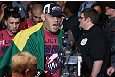 "MINNEAPOLIS, MN - OCTOBER 05:  Antonio ""Bigfoot"" Silva enters the arena before his heavyweight fight against Travis Browne at the UFC on FX event at Target Center on October 5, 2012 in Minneapolis, Minnesota.  (Photo by Josh Hedges/Zuffa LLC/Zuffa LLC via Getty Images)"