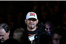 "MINNEAPOLIS, MN - OCTOBER 05:  Travis Browne enters the arena before his heavyweight fight against Antonio ""Bigfoot"" Silva at the UFC on FX event at Target Center on October 5, 2012 in Minneapolis, Minnesota.  (Photo by Josh Hedges/Zuffa LLC/Zuffa LLC via Getty Images)"