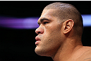 MINNEAPOLIS, MN - OCTOBER 05:  Antonio &quot;Bigfoot&quot; Silva stands in the Octagon before his heavyweight fight against Travis Browne at the UFC on FX event at Target Center on October 5, 2012 in Minneapolis, Minnesota.  (Photo by Josh Hedges/Zuffa LLC/Zuffa LLC via Getty Images)