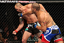MINNEAPOLIS, MN - OCTOBER 05:  (R-L) Antonio Silva lands the knockout punch against Travis Browne during their heavyweight fight at the UFC on FX event at Target Center on October 5, 2012 in Minneapolis, Minnesota.  (Photo by Josh Hedges/Zuffa LLC/Zuffa LLC via Getty Images)