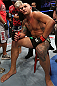MINNEAPOLIS, MN - OCTOBER 05:  Travis Browne sits in the Octagon after being knocked out by Antonio Silva during their heavyweight fight at the UFC on FX event on October 5, 2012 in Minneapolis, Minnesota.  (Photo by Josh Hedges/Zuffa LLC/Zuffa LLC via Getty Images)