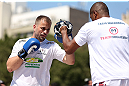 RIO DE JANEIRO, BRAZIL - OCTOBER 10:  Fabio Maldonado works out for fans and media during an open training session ahead of UFC 153 at Arcos da Lapa: Praca Cardeal Camara on October 10, 2012 in Rio de Janeiro, Brazil.  (Photo by Josh Hedges/Zuffa LLC/Zuffa LLC via Getty Images)