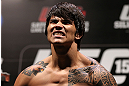 RIO DE JANEIRO, BRAZIL - OCTOBER 12:  Erick Silva weighs in during the UFC 153 weigh in at HSBC Arena on October 12, 2012 in Rio de Janeiro, Brazil.  (Photo by Josh Hedges/Zuffa LLC/Zuffa LLC via Getty Images)