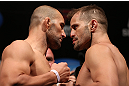 RIO DE JANEIRO, BRAZIL - OCTOBER 12:  (L-R) Opponents Glover Teixeira and Fabio Maldonado face off during the UFC 153 weigh in at HSBC Arena on October 12, 2012 in Rio de Janeiro, Brazil.  (Photo by Josh Hedges/Zuffa LLC/Zuffa LLC via Getty Images)
