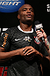 RIO DE JANEIRO, BRAZIL - OCTOBER 12:  Anderson Silva is interviewed during the UFC 153 weigh in at HSBC Arena on October 12, 2012 in Rio de Janeiro, Brazil.  (Photo by Josh Hedges/Zuffa LLC/Zuffa LLC via Getty Images)