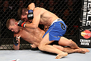 RIO DE JANEIRO, BRAZIL - OCTOBER 13:  (R-L) Demian Maia punches Rick Story during their welterweight fight at UFC 153 inside HSBC Arena on October 13, 2012 in Rio de Janeiro, Brazil.  (Photo by Josh Hedges/Zuffa LLC/Zuffa LLC via Getty Images)