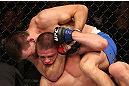 RIO DE JANEIRO, BRAZIL - OCTOBER 13:  (R-L) Demian Maia secures a rear choke submission against Rick Story during their welterweight fight at UFC 153 inside HSBC Arena on October 13, 2012 in Rio de Janeiro, Brazil.  (Photo by Josh Hedges/Zuffa LLC/Zuffa LLC via Getty Images)