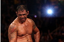 RIO DE JANEIRO, BRAZIL - OCTOBER 13:  Antonio Rodrigo &quot;Minotauro&quot; Nogeuira reacts after defeating Dave Herman during their heavyweight fight at UFC 153 inside HSBC Arena on October 13, 2012 in Rio de Janeiro, Brazil.  (Photo by Josh Hedges/Zuffa LLC/Zuffa LLC via Getty Images)