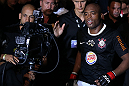 RIO DE JANEIRO, BRAZIL - OCTOBER 13:  Anderson Silva enters the arena before his light heavyweight fight against Stephan Bonnar at UFC 153 inside HSBC Arena on October 13, 2012 in Rio de Janeiro, Brazil.  (Photo by Josh Hedges/Zuffa LLC/Zuffa LLC via Getty Images)