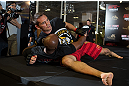 HONG KONG - NOVEMBER 07:  Rich Franklin works out for media and fans during a UFC open workout session at Harbour City Mall on November 7, 2012 in Hong Kong, Hong Kong.  (Photo by Josh Hedges/Zuffa LLC/Zuffa LLC via Getty Images)