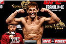 MACAU, MACAU - NOVEMBER 09:  Riki Fukuda makes weight during the UFC Macau weigh in at Cotai Arena on November 9, 2012 in Macau, Macau.  (Photo by Josh Hedges/Zuffa LLC/Zuffa LLC via Getty Images)