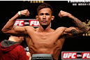 MACAU, MACAU - NOVEMBER 09:  Yasuhiro Urushitani makes weight during the UFC Macau weigh in at Cotai Arena on November 9, 2012 in Macau, Macau.  (Photo by Josh Hedges/Zuffa LLC/Zuffa LLC via Getty Images)