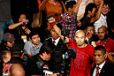 MACAU, MACAU - NOVEMBER 10: Tiequan Zhang enters the arena before his their lightweight bout against Jon Tuck at the UFC Macao event inside CotaiArena on November 10, 2012 in Macau, Macau. (Photo by Josh Hedges/Zuffa LLC/Zuffa LLC via Getty Images)
