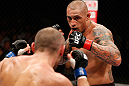 MACAU, MACAU - NOVEMBER 10: (R-L) Thiago Silva faces off with Stanislav Nedkov during their light heavyweight bout at the UFC Macao event inside CotaiArena on November 10, 2012 in Macau, Macau. (Photo by Josh Hedges/Zuffa LLC/Zuffa LLC via Getty Images)
