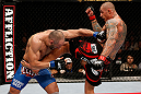 MACAU, MACAU - NOVEMBER 10: (R-L) Thiago Silva kicks Stanislav Nedkov during their light heavyweight bout at the UFC Macao event inside CotaiArena on November 10, 2012 in Macau, Macau. (Photo by Josh Hedges/Zuffa LLC/Zuffa LLC via Getty Images)