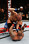MACAU, MACAU - NOVEMBER 10: (L-R) Stanislav Nedkov punches Thiago Silva during their light heavyweight bout at the UFC Macao event inside CotaiArena on November 10, 2012 in Macau, Macau. (Photo by Josh Hedges/Zuffa LLC/Zuffa LLC via Getty Images)