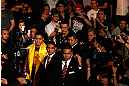MACAU, MACAU - NOVEMBER 10: Cung Le enters the arena before his middleweight bout against Rich Franklin at the UFC Macao event inside CotaiArena on November 10, 2012 in Macau, Macau. (Photo by Josh Hedges/Zuffa LLC/Zuffa LLC via Getty Images)