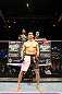 MACAU, MACAU - NOVEMBER 10:  Rich Franklin stands in the Octagon before his middleweight bout against Cung Le at the UFC Macao event inside CotaiArena on November 10, 2012 in Macau, Macau.  (Photo by Josh Hedges/Zuffa LLC/Zuffa LLC via Getty Images)