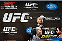 MONTREAL, CANADA - NOVEMBER 14:  UFC host Jon Anik interacts with media and fans during the final pre-fight press conference ahead of UFC 154 at New City Gas on November 14, 2012 in Montreal, Quebec, Canada.  (Photo by Josh Hedges/Zuffa LLC/Zuffa LLC via Getty Images)