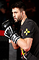 MONTREAL, CANADA - NOVEMBER 15:  Carlos Condit works out for media and fans during an open training session ahead of UFC 154 at New City Gas on November 15, 2012 in Montreal, Quebec, Canada.  (Photo by Josh Hedges/Zuffa LLC/Zuffa LLC via Getty Images)