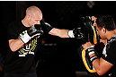 MONTREAL, CANADA - NOVEMBER 15:  ]Martin Kampmann works out for media and fans during an open training session ahead of UFC 154 at New City Gas on November 15, 2012 in Montreal, Quebec, Canada.  (Photo by Josh Hedges/Zuffa LLC/Zuffa LLC via Getty Images)