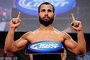 MONTREAL, CANADA - NOVEMBER 16:  John Makdessi weighs in during the official UFC 154 weigh in at New City Gas on November 16, 2012 in Montreal, Quebec, Canada.  (Photo by Josh Hedges/Zuffa LLC/Zuffa LLC via Getty Images)