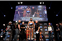 MONTREAL, CANADA - NOVEMBER 16: Johny Hendricks weighs in during the official UFC 154 weigh in at New City Gas on November 16, 2012 in Montreal, Quebec, Canada. (Photo by Josh Hedges/Zuffa LLC/Zuffa LLC via Getty Images)