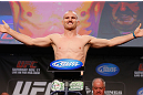 MONTREAL, CANADA - NOVEMBER 16: Martin Kampmann weighs in during the official UFC 154 weigh in at New City Gas on November 16, 2012 in Montreal, Quebec, Canada. (Photo by Josh Hedges/Zuffa LLC/Zuffa LLC via Getty Images)