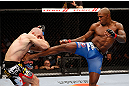 MONTREAL, QC - NOVEMBER 17:  Tom Lawlor (L) fights against Francis Carmont in their middleweight bout during UFC 154 on November 17, 2012  at the Bell Centre in Montreal, Canada.  (Photo by Josh Hedges/Zuffa LLC/Zuffa LLC via Getty Images)