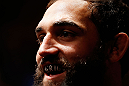 MONTREAL, QC - NOVEMBER 17:  Johny Hendricks looks on before fighting against Martin Kampmann in their welterweight bout during UFC 154 on November 17, 2012  at the Bell Centre in Montreal, Canada.  (Photo by Josh Hedges/Zuffa LLC/Zuffa LLC via Getty Images)