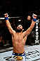 MONTREAL, QC - NOVEMBER 17:  Johny Hendricks reacts after knocking out Martin Kampmann in the first round to win their welterweight bout during UFC 154 on November 17, 2012  at the Bell Centre in Montreal, Canada.  (Photo by Josh Hedges/Zuffa LLC/Zuffa LLC via Getty Images)