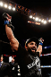 MONTREAL, QC - NOVEMBER 17:  Johny Hendricks reacts after knocking out Martin Kampmann with a left in the first round to win their welterweight bout during UFC 154 on November 17, 2012  at the Bell Centre in Montreal, Canada.  (Photo by Josh Hedges/Zuffa LLC/Zuffa LLC via Getty Images)