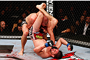 MONTREAL, QC - NOVEMBER 17:  Carlos Condit (R) grapples against Georges St-Pierre in their welterweight title bout during UFC 154 on November 17, 2012  at the Bell Centre in Montreal, Canada.  (Photo by Josh Hedges/Zuffa LLC/Zuffa LLC via Getty Images)