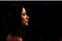 MONTREAL, QC - NOVEMBER 17:  UFC Octagon Girl Arianny Celeste looks on during UFC 154 on November 17, 2012  at the Bell Centre in Montreal, Canada.  (Photo by Josh Hedges/Zuffa LLC/Zuffa LLC via Getty Images)