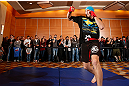 SEATTLE, WA - DECEMBER 05:  Alexander Gustafsson works out for fans and media during the UFC on FOX open workouts on December 5, 2012  at the Grand Hyatt Seattle in Seattle, Washington.  (Photo by Josh Hedges/Zuffa LLC/Zuffa LLC via Getty Images)