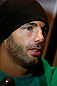 SEATTLE, WA - DECEMBER 05:  Mike Swick interacts with media during the UFC on FOX open workouts on December 5, 2012  at the Grand Hyatt Seattle in Seattle, Washington.  (Photo by Josh Hedges/Zuffa LLC/Zuffa LLC via Getty Images)