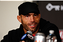 SEATTLE, WA - DECEMBER 06:  Mike Swick interacts with media during the UFC on FOX press conference on December 6, 2012  at Key Arena in Seattle, Washington.  (Photo by Josh Hedges/Zuffa LLC/Zuffa LLC via Getty Images)