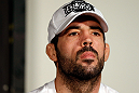 SEATTLE, WA - DECEMBER 06:  Matt Brown interacts with media during the UFC on FOX press conference on December 6, 2012 at Key Arena in Seattle, Washington.  (Photo by Josh Hedges/Zuffa LLC/Zuffa LLC via Getty Images)