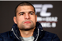 "SEATTLE, WA - DECEMBER 06:  Mauricio ""Shogun"" Rua interacts with media during the UFC on FOX press conference on December 6, 2012  at Key Arena in Seattle, Washington.  (Photo by Josh Hedges/Zuffa LLC/Zuffa LLC via Getty Images)"
