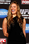 SEATTLE, WA - DECEMBER 06:  Ronda Rousey poses for photos after being presented with the UFC women&#39;s bantamweight championship during the UFC on FOX press conference on December 6, 2012 at Key Arena in Seattle, Washington.  (Photo by Josh Hedges/Zuffa LLC/Zuffa LLC via Getty Images)